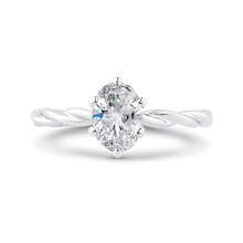 Load image into Gallery viewer, CAO0508E-W-1.00 Bridal Jewelry Carizza White Gold Oval Solitaire Engagement Rings