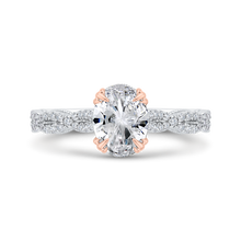 Load image into Gallery viewer, CAO0534EH-37WP-1.25 Bridal Jewelry Carizza White Gold,Rose Gold Oval Diamond Engagement Rings