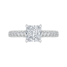 Load image into Gallery viewer, CAP0039E-37W Bridal Jewelry Carizza White Gold Princess Cut Diamond Engagement Rings