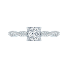 Load image into Gallery viewer, CAP0088E-37W Bridal Jewelry Carizza White Gold Princess Cut Diamond Engagement Rings