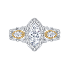 Load image into Gallery viewer, CAQ0175EH-37WY Bridal Jewelry Carizza White Gold Rose Gold Yellow Gold Marquise Cut Diamond Halo Engagement Rings