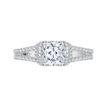 Load image into Gallery viewer, CAU0184E-37W-1.50 Bridal Jewelry Carizza White Gold Cushion Cut Diamond Engagement Rings