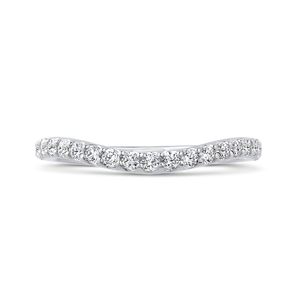 CAU0288B-37W-2.00 Bridal Jewelry Carizza White Gold Round Diamond Wedding Bands