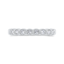 Load image into Gallery viewer, CAU0456BH-37W-1.10 Bridal Jewelry Carizza White Gold Round Diamond Wedding Bands