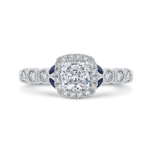 Load image into Gallery viewer, CAU0456EH-S37W-1.10 Bridal Jewelry Carizza White Gold Cushion Cut Diamond Halo Engagement Rings