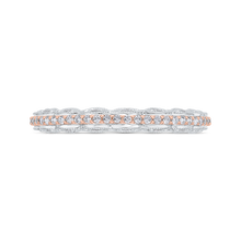 Load image into Gallery viewer, CAU0532BH-37WP-1.00 Bridal Jewelry Carizza White Gold,Rose Gold Diamond Wedding Bands