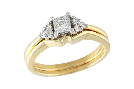 14KT Gold Two-Piece Wedding Set - D030-46219_Y
