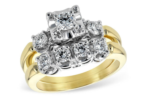 14KT Gold Two-Piece Wedding Set - D035-92556_Y
