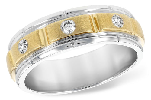 14KT Gold Mens Wedding Ring - D215-08992_TR