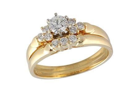 14KT Gold Two-Piece Wedding Set - E035-98028_Y