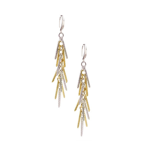sterling silver yellow gold plated jacqueline earrings e1056