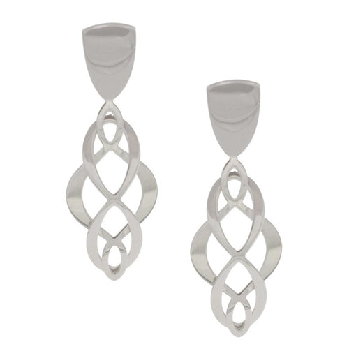 sterling silver celtic swirl earrings e1108