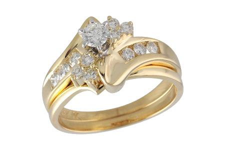 14KT Gold Two-Piece Wedding Set - F035-93455_Y