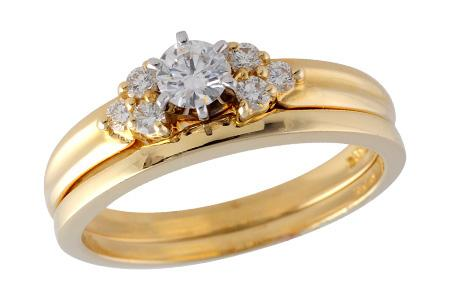 14KT Gold Two-Piece Wedding Set - F035-93519_Y