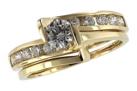 14KT Gold Two-Piece Wedding Set - F035-97137_Y