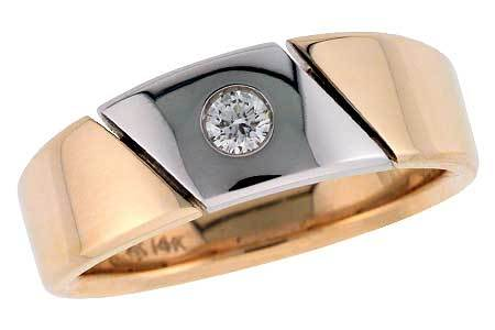 14KT Gold Mens Wedding Ring - F120-50774_T