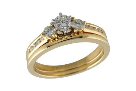 14KT Gold Two-Piece Wedding Set - F210-48074_Y