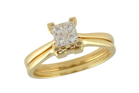 14KT Gold Two-Piece Wedding Set - F211-38928_Y