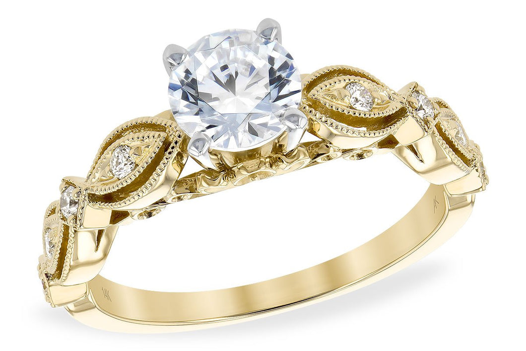 14KT Gold Semi-Mount Engagement Ring - F217-73519_Y