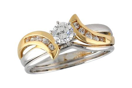 14KT Gold Two-Piece Wedding Set - G035-98928_TR