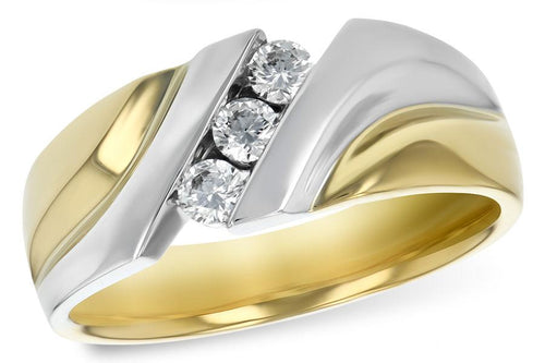 14KT Gold Mens Wedding Ring - G120-50783_Y