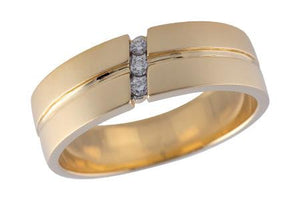 14KT Gold Mens Wedding Ring - G212-28955_Y