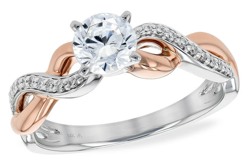 14KT Gold Semi-Mount Engagement Ring - G215-00746_T