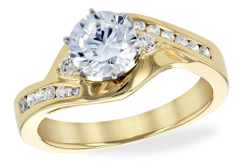 14KT Gold Semi-Mount Engagement Ring - G215-02619_Y