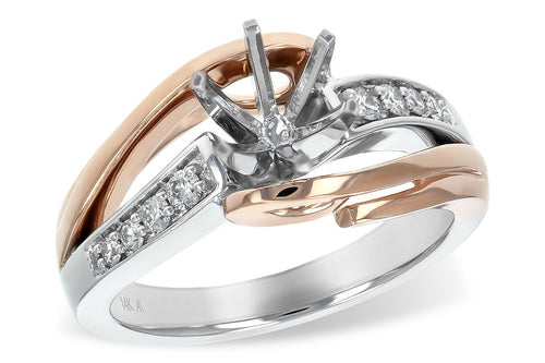 14KT Gold Semi-Mount Engagement Ring - G215-99819_TR