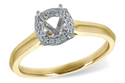 14KT Gold Semi-Mount Engagement Ring - G216-84446_T