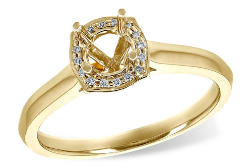 14KT Gold Semi-Mount Engagement Ring - G216-84446_Y
