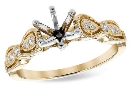 14KT Gold Semi-Mount Engagement Ring - G300-47101_Y