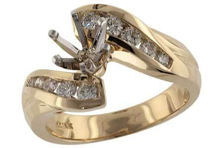 14KT Gold Semi-Mount Engagement Ring - H033-19828_Y