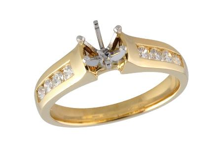14KT Gold Semi-Mount Engagement Ring - H033-22628_Y