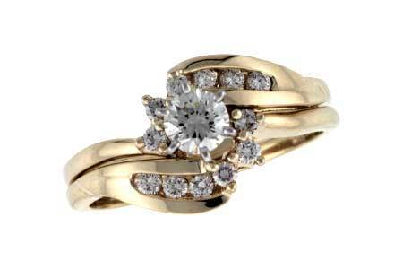 14KT Gold Two-Piece Wedding Set - H035-06201_Y