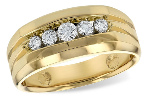 14KT Gold Mens Wedding Ring - H120-50764_Y