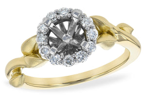 14KT Gold Semi-Mount Engagement Ring - L217-81637_T
