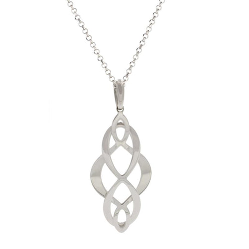 sterling silver celtic swirl necklace ne1108