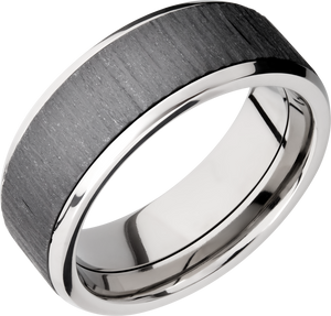 lashbrook zirconium collection titanium 8mm beveled band pf8b16(ns)_zirconium+treebark+1_polish