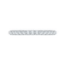 Load image into Gallery viewer, PR0004B-02W Bridal Jewelry Carizza White Gold Round Diamond Wedding Bands