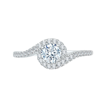Load image into Gallery viewer, PR0021EC-02W Bridal Jewelry Carizza White Gold Round Diamond Engagement Rings