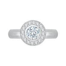 Load image into Gallery viewer, PR0029EC-02W Bridal Jewelry Carizza White Gold Round Diamond Halo Engagement Rings