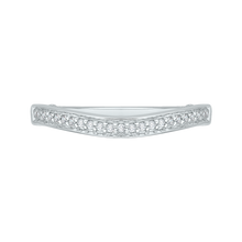 Load image into Gallery viewer, PR0043B-02W Bridal Jewelry Carizza White Gold Round Diamond Wedding Bands