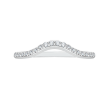 Load image into Gallery viewer, PR0046B-02W-0.50 Bridal Jewelry Carizza White Gold Round Diamond Wedding Bands
