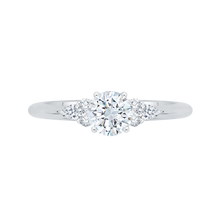 Load image into Gallery viewer, PR0062EC-02W Bridal Jewelry Carizza White Gold Round Diamond Engagement Rings