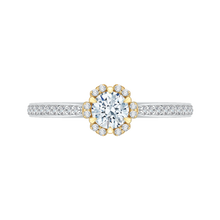 Load image into Gallery viewer, PR0078EC-44WY Bridal Jewelry Carizza White Gold Rose Gold Yellow Gold Round Diamond Engagement Rings