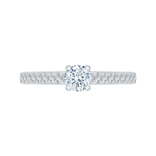 Load image into Gallery viewer, PR0086EC-44W Bridal Jewelry Carizza White Gold Round Diamond Engagement Rings
