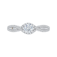 Load image into Gallery viewer, PR0089EC-44W Bridal Jewelry Carizza White Gold Round Diamond Engagement Rings
