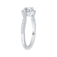 Load image into Gallery viewer, 14K White Gold Round Diamond Promise Engagement Ring