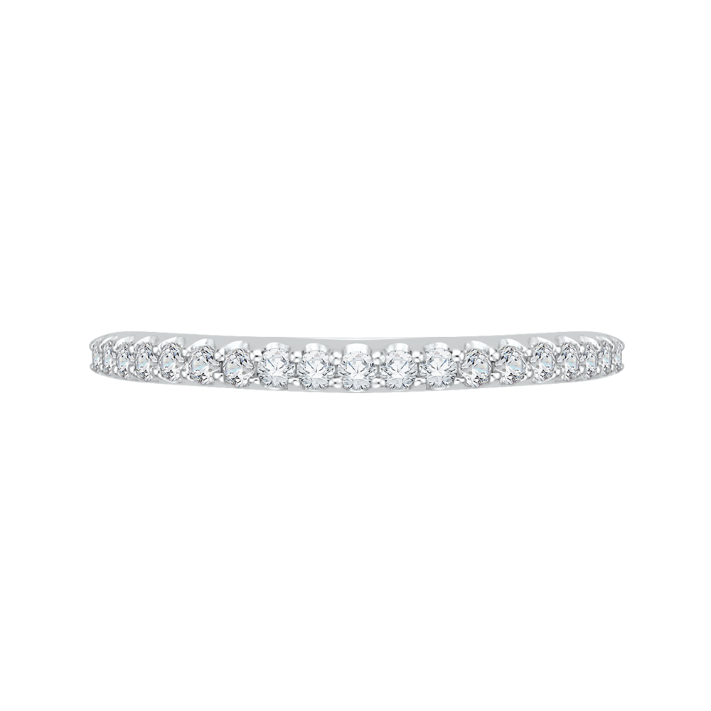 PR0118BH-44W-.50 Bridal Jewelry Carizza White Gold Round Diamond Wedding Bands